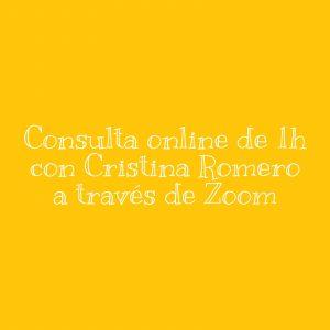 Encuentro online con Cristina Romero